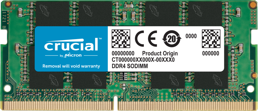 Crucial 4GB DDR4-3200 SODIMM- view 1