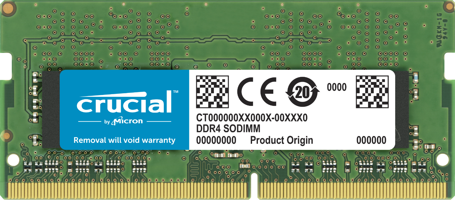Crucial 32GB DDR4-2666 SODIMM Laptop Memory