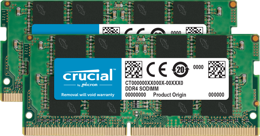 Crucial 32GB Kit (2 x 16GB) DDR4-2400 SODIMM- view 1