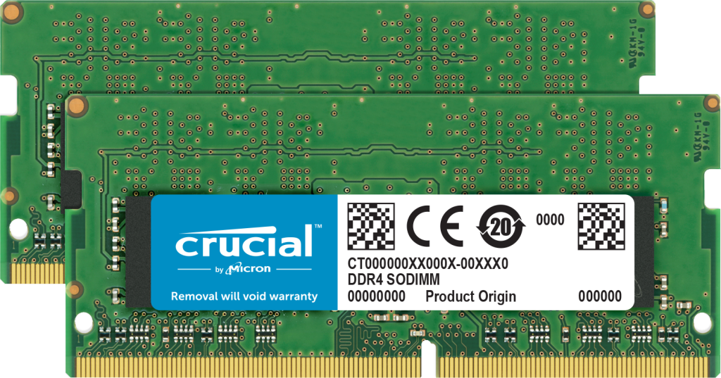 Crucial 64GB Kit (2 x 32GB) DDR4-3200 SODIMM- view 1