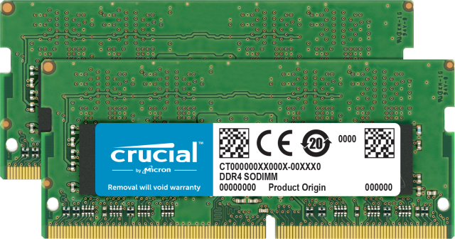 Crucial 64GB Kit (2 x 32GB) DDR4-3200 SODIMM