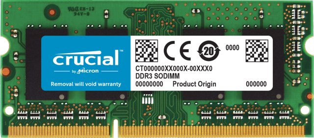 Crucial 8GB DDR3L-1600 SODIMM Memory for Mac