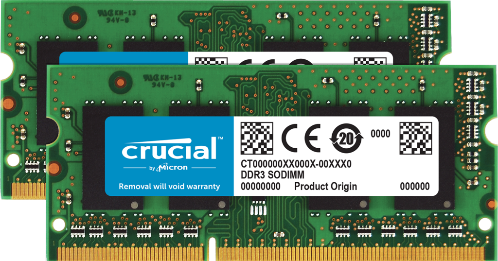 Crucial 8GB Kit (2 x 4GB) DDR3L-1600 SODIMM Memory for Mac- view 1