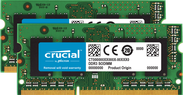 Crucial 8GB Kit (2 x 4GB) DDR3L-1333 SODIMM Memory for Mac