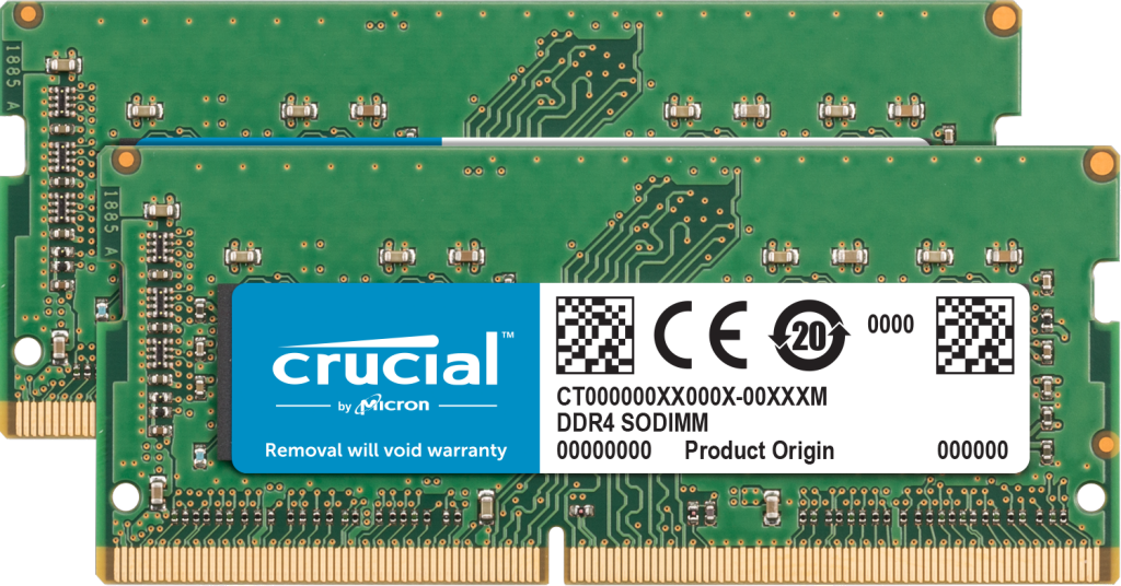 Crucial 32GB Kit (2 x 16GB) DDR4-2400 SODIMM Memory for Mac- view 1