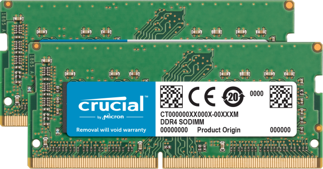 Crucial 32GB Kit (2 x 16GB) DDR4-2666 SODIMM Memory for Mac