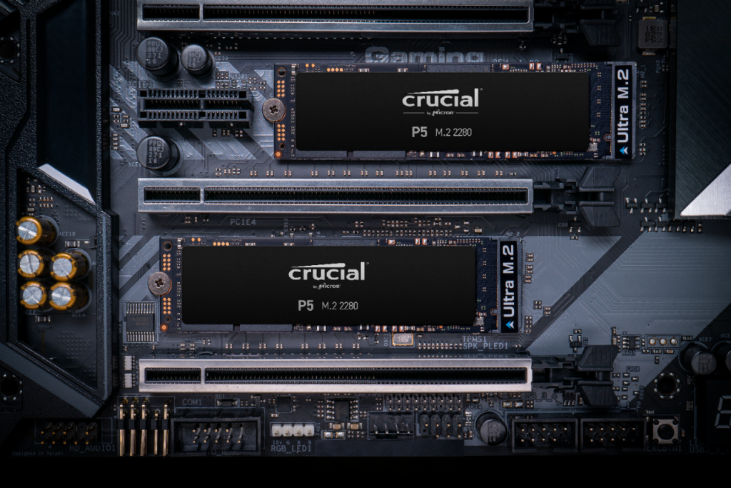 Crucial P5 2TB PCIe M.2 2280SS SSD- view 3