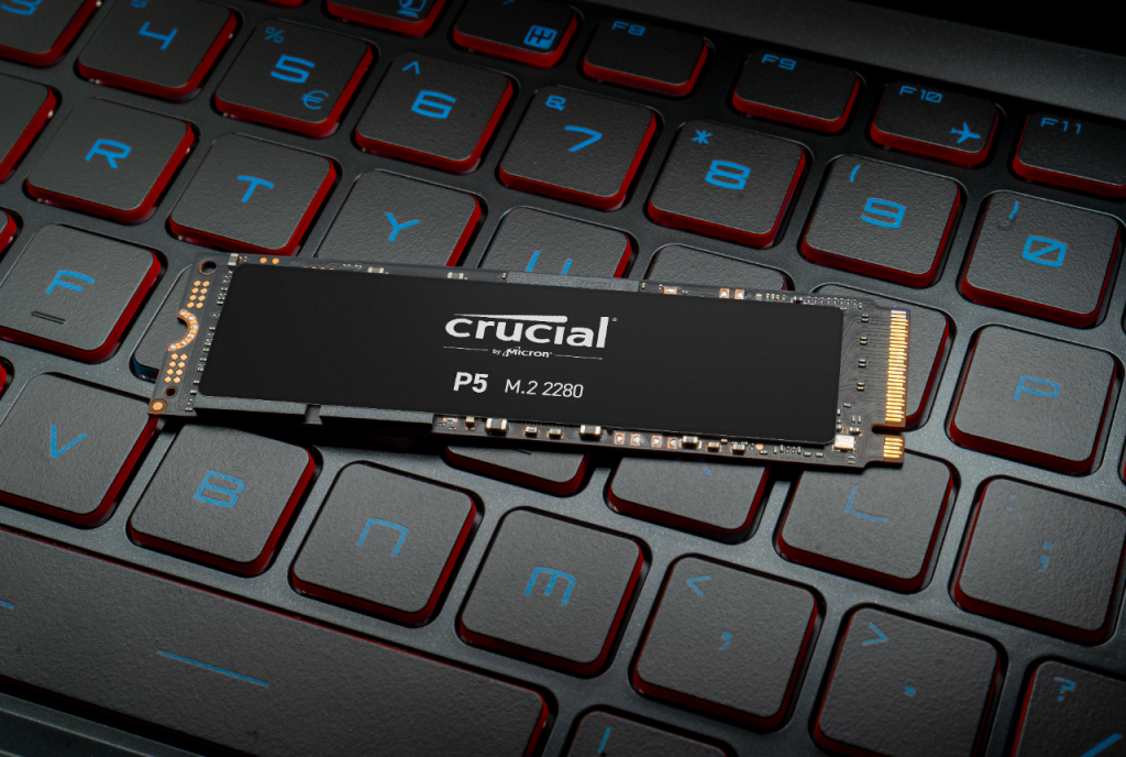 Crucial P5 2TB PCIe M.2 2280SS SSD- view 2