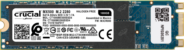 SSD Crucial MX500 1 To 3D NAND (M.2 - type 2280)