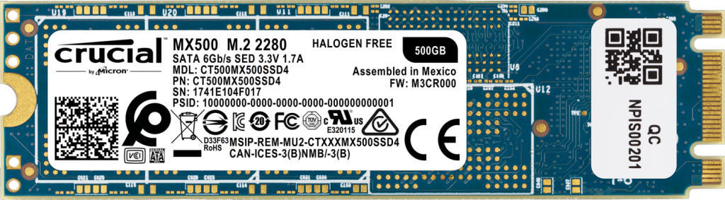SSD Crucial MX500 500 Go 3D NAND (M.2 - type 2280)- view 1