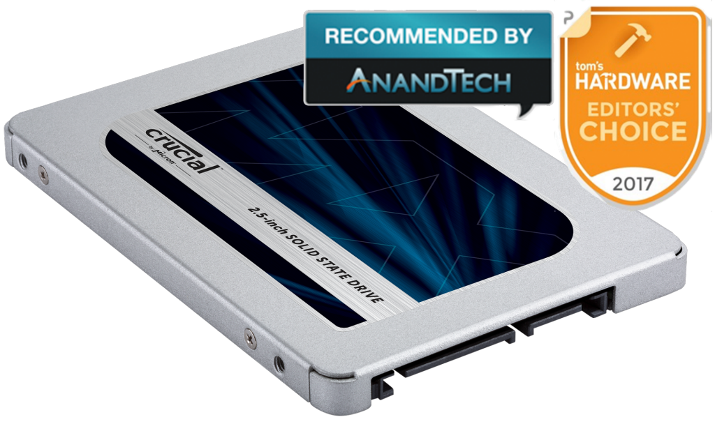 Crucial MX500 250GB 3D NAND SATA 2.5 inch 7mm (with 9.5mm adapter) Internal SSD- view 4