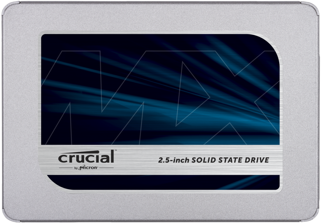 "Crucial MX500 500GB 3D NAND SATA 2.5"" 7mm (with 9.5mm adapter) Internal SSD- view 1"