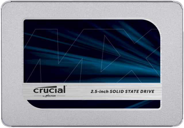 "Crucial MX500 500GB 3D NAND SATA 2.5"" 7mm (with 9.5mm adapter) Internal SSD"