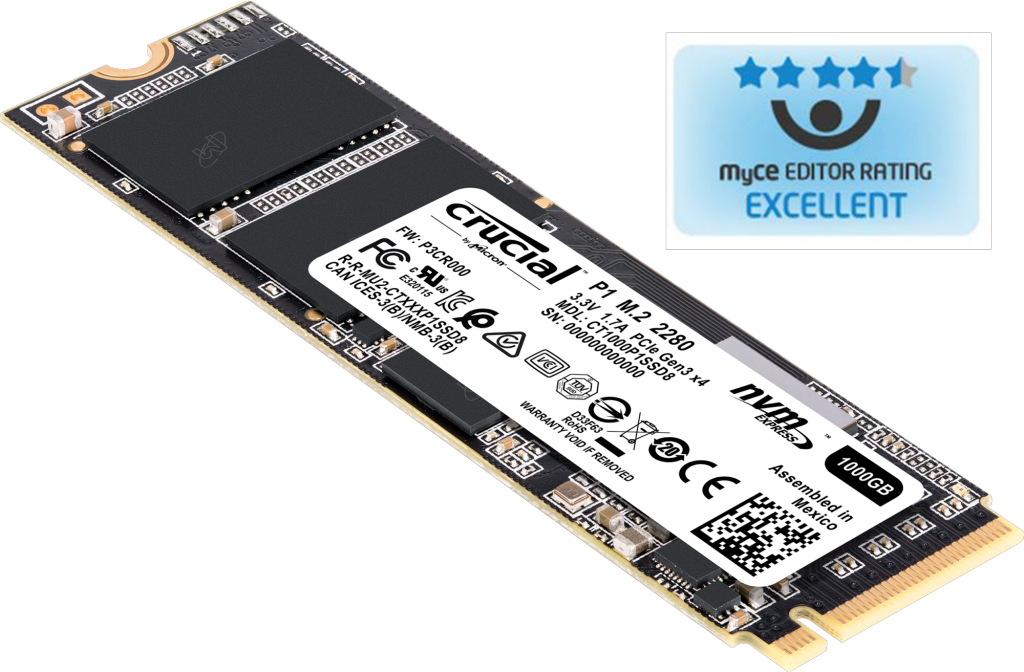 Image for Crucial P1 500GB 3D NAND NVMe PCIe M.2 SSD from Crucial USA