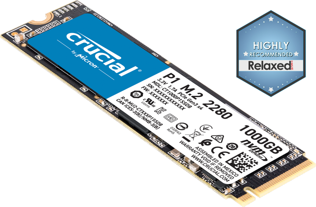 Image for Crucial P1 1TB 3D NAND NVMe PCIe M.2 SSD from Crucial English Euro Store