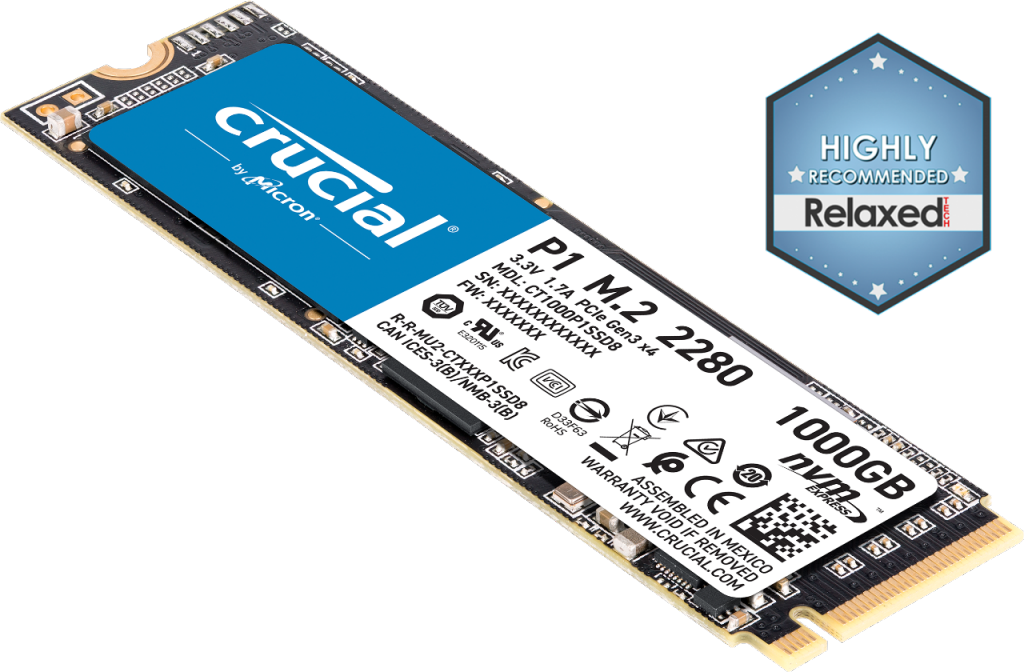 Image for Crucial P1 1TB 3D NAND NVMe PCIe M.2 SSD from Crucial USA
