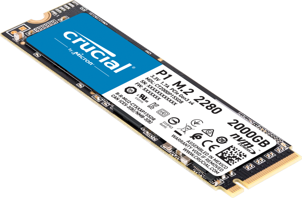 Crucial P1 2TB 3D NAND NVMe PCIe M.2 SSD- view 1