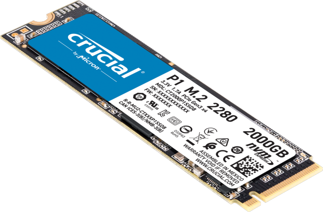 Crucial P1 2To 3D NAND NVMe PCIe M.2 SSD