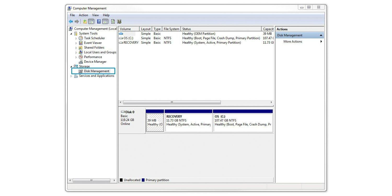格式化固態硬碟之磁碟管理選擇步驟