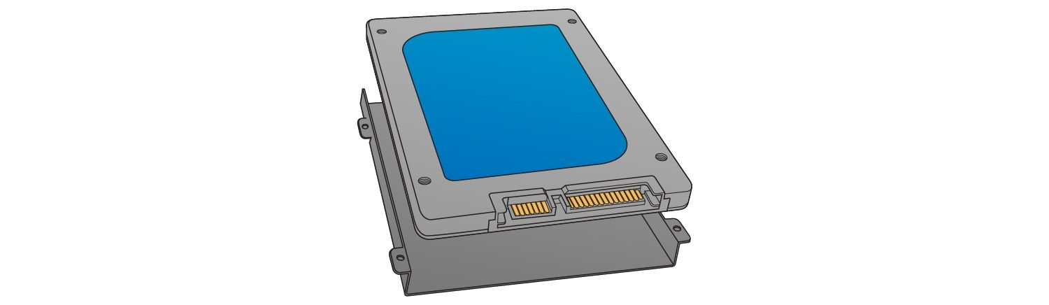 Locate the storage bay to install the solid state drive.
