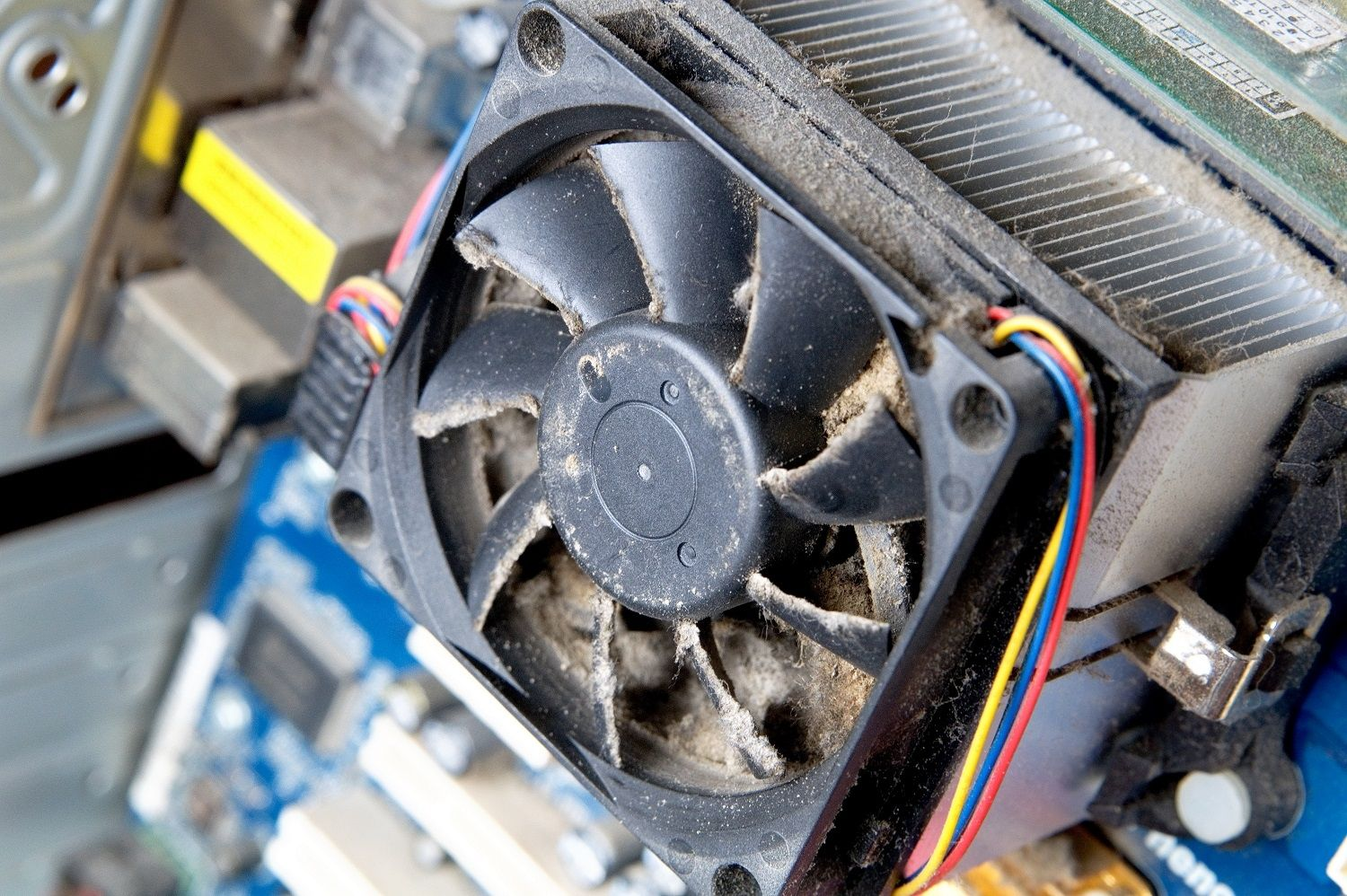 A dirty, dusty computer fan