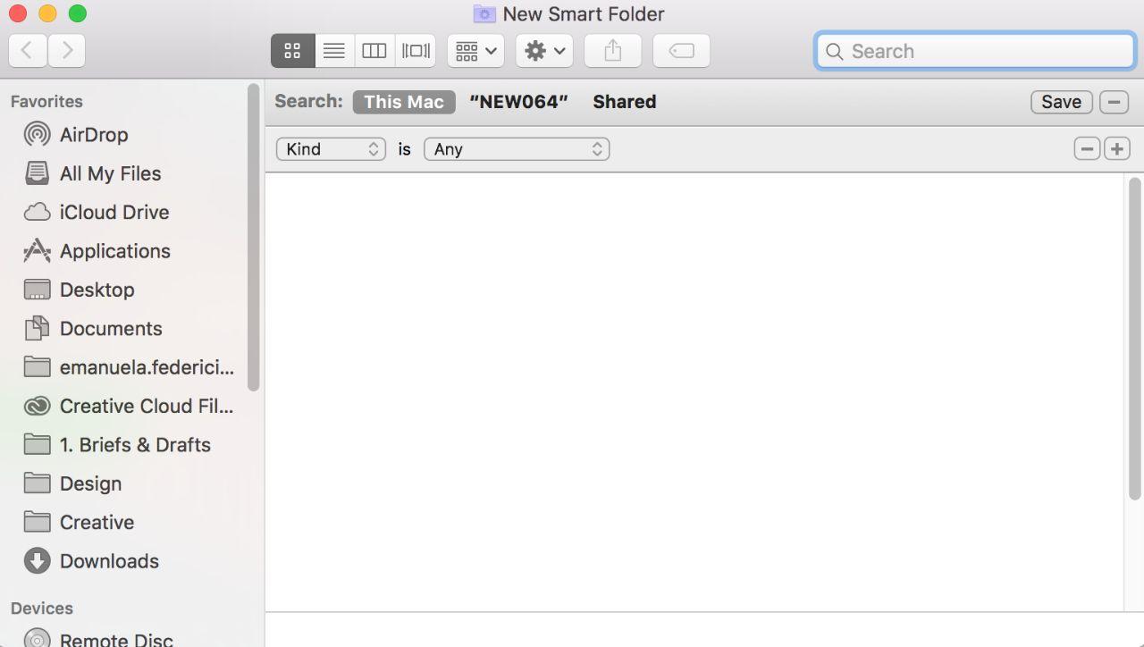 Smart folder screen