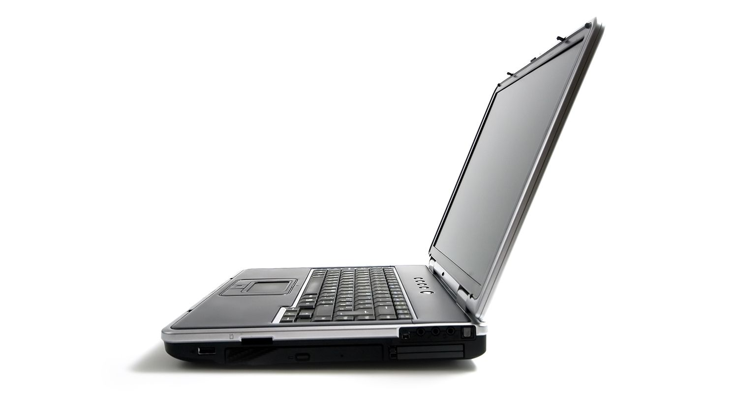 Laptop from a side view