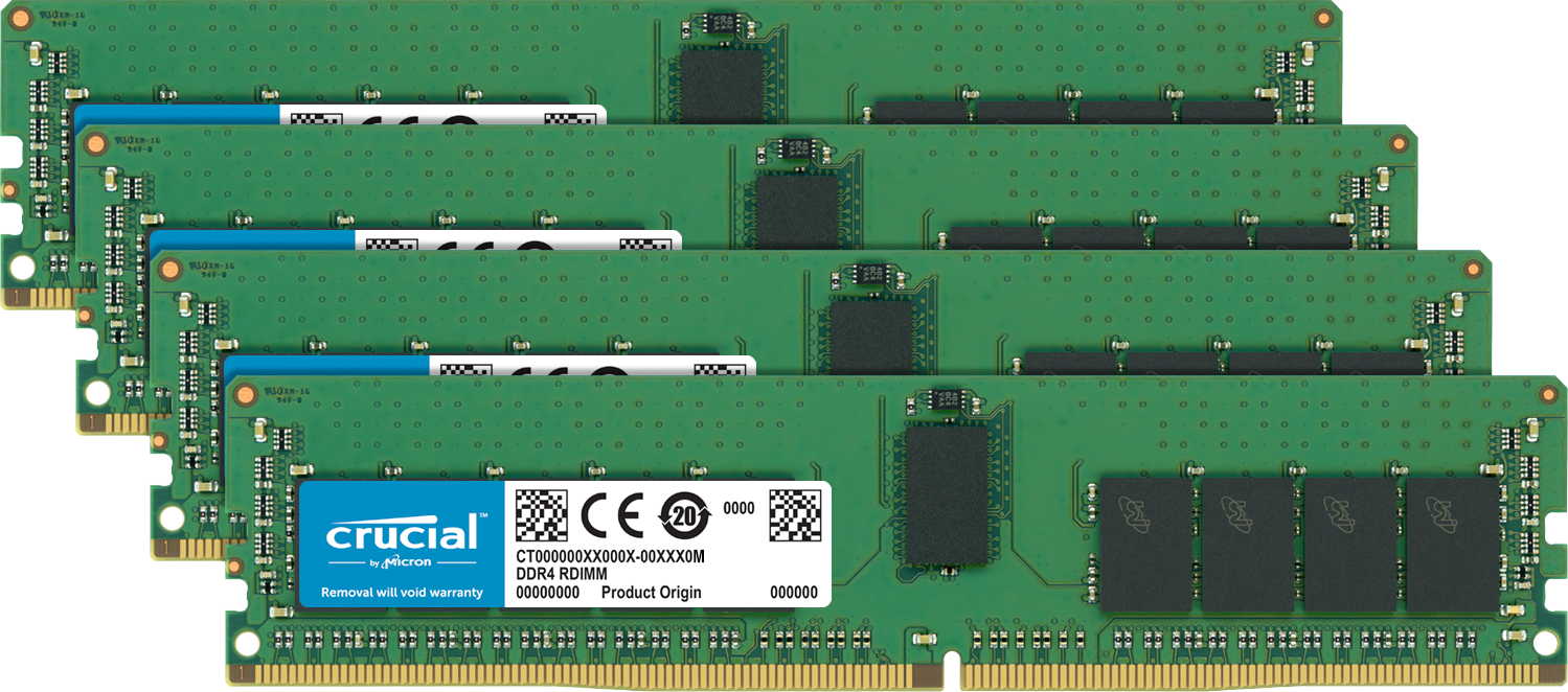 電腦的 Crucial 記憶體(RAM)。